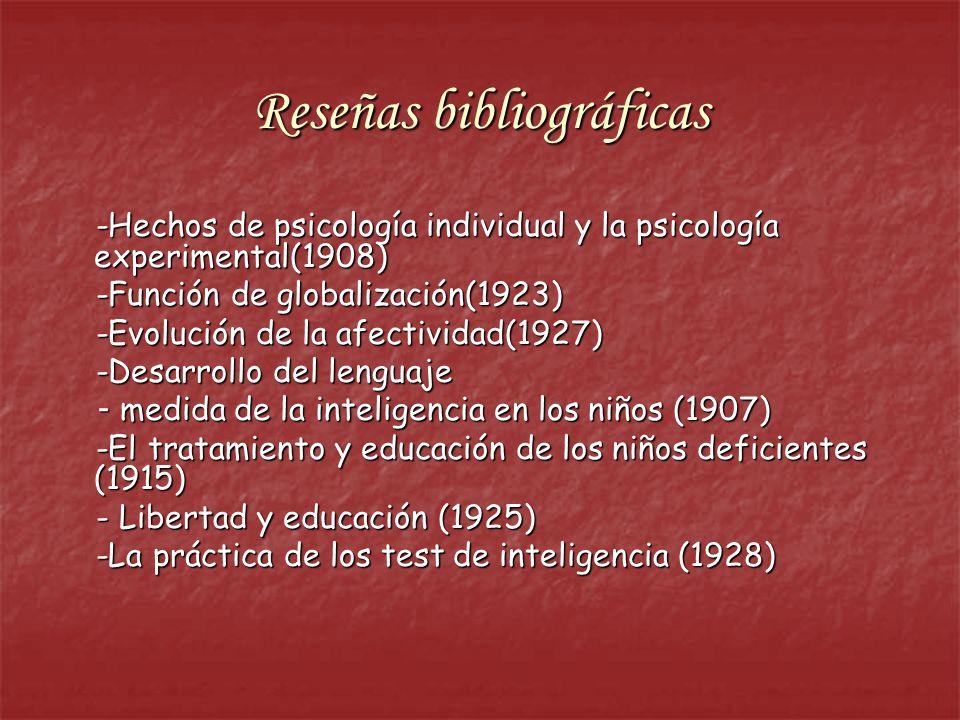 Reseñas bibliográficas -Hechos de psicología individual y la psicología experimental(1908) -Hechos de psicología individual y la psicología experiment