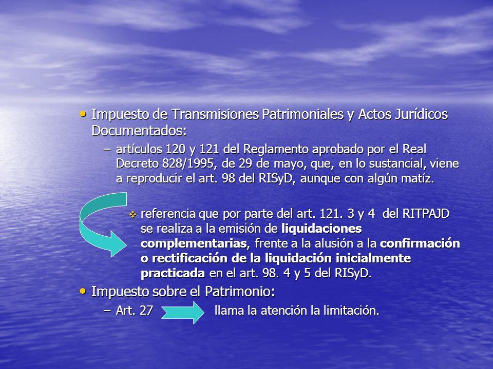 Impuesto de Transmisiones Patrimoniales y Actos Jurídicos Documentados: Impuesto de Transmisiones Patrimoniales y Actos Jurídicos Documentados: –artíc