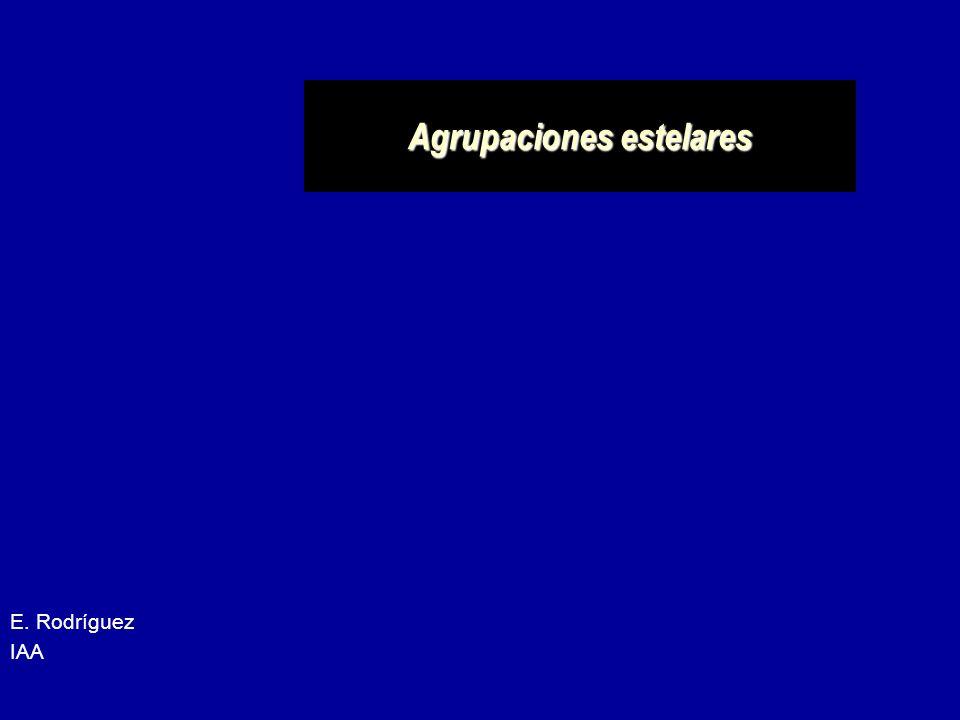 Agrupaciones estelares E. Rodríguez IAA