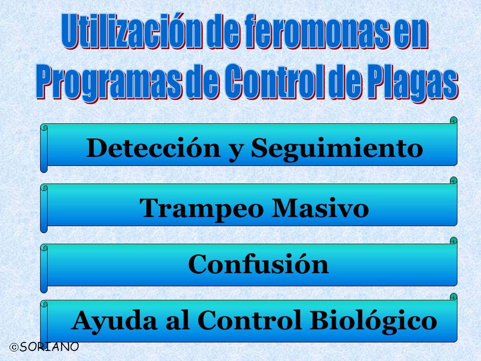 Detección y SeguimientoTrampeo Masivo ConfusiónAyuda al Control Biológico SORIANO