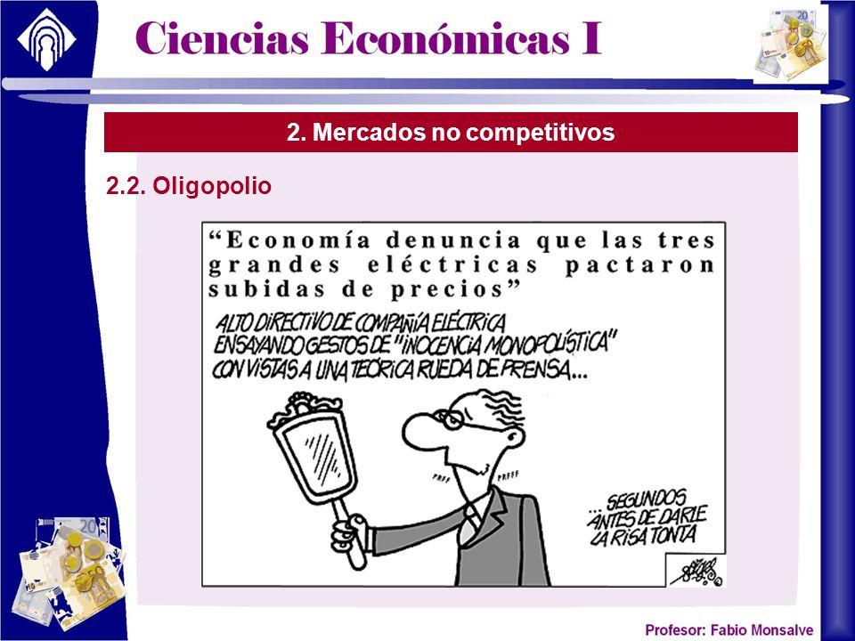 2. Mercados no competitivos 2.2. Oligopolio