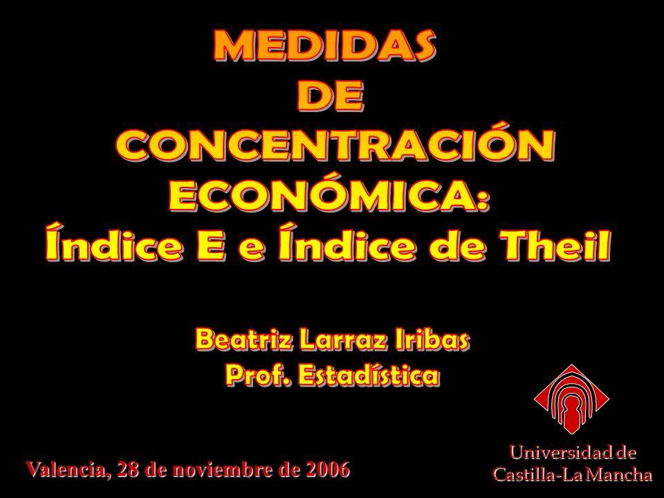 Valencia, 28 de noviembre de 2006 Universidad de Castilla-La Mancha