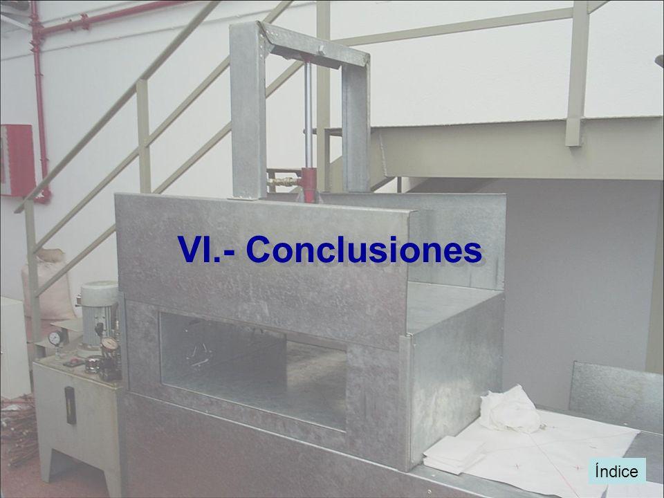 Índice VI.- Conclusiones