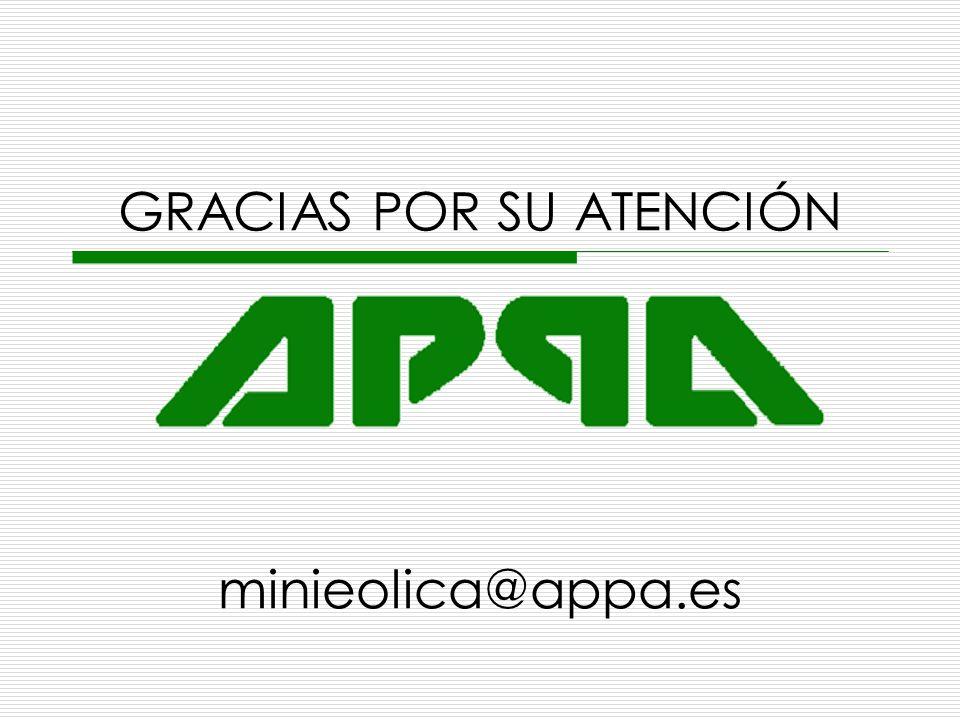GRACIAS POR SU ATENCIÓN minieolica@appa.es