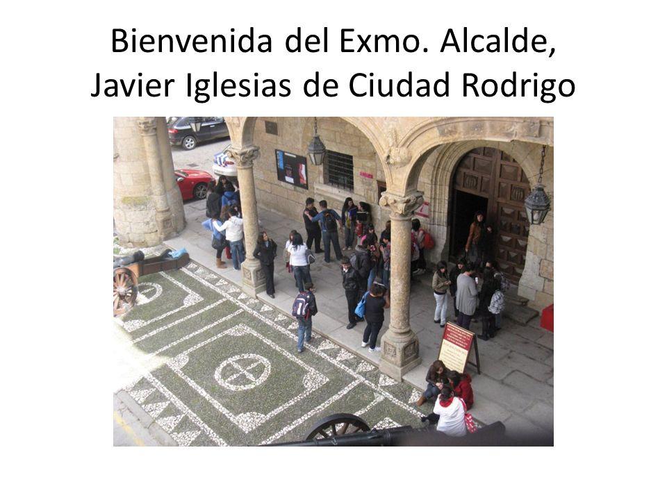 Bienvenida del Exmo. Alcalde, Javier Iglesias de Ciudad Rodrigo