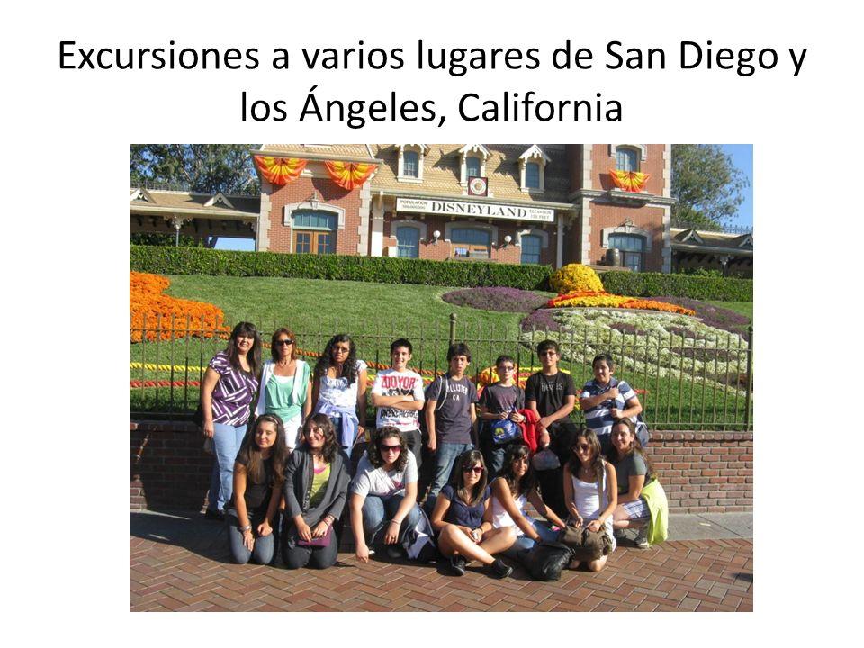 Excursiones a varios lugares de San Diego y los Ángeles, California