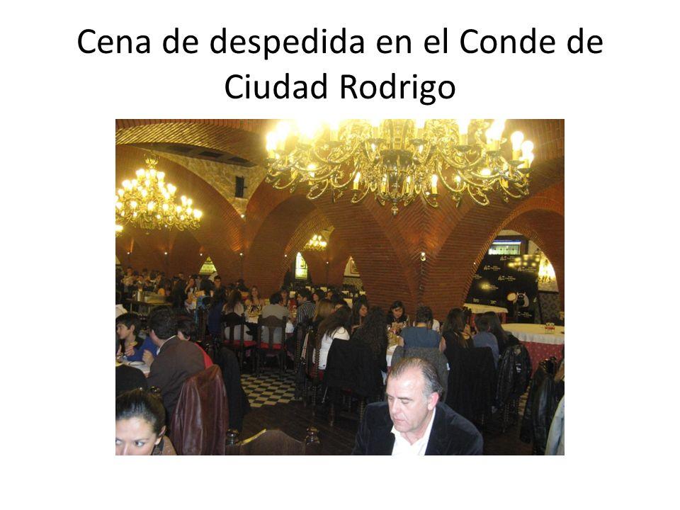 Cena de despedida en el Conde de Ciudad Rodrigo