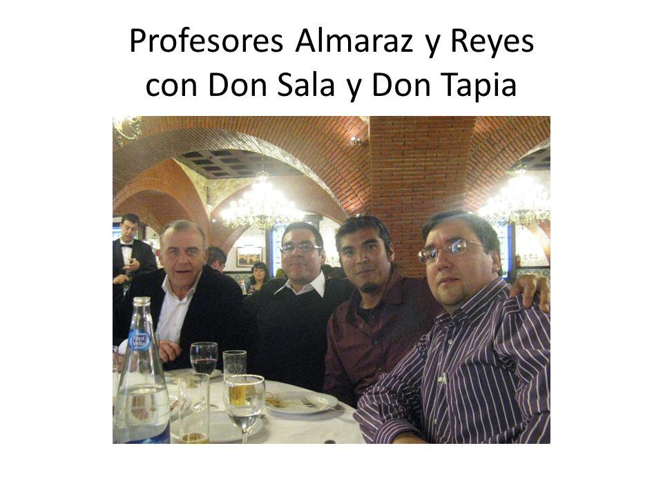 Profesores Almaraz y Reyes con Don Sala y Don Tapia