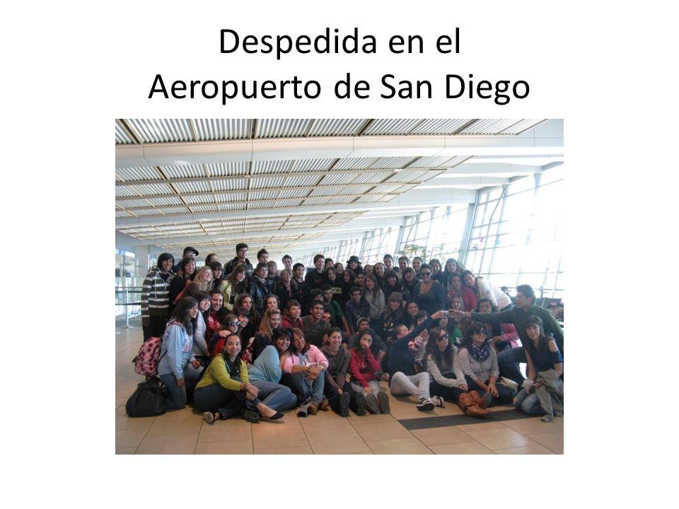 Despedida en el Aeropuerto de San Diego