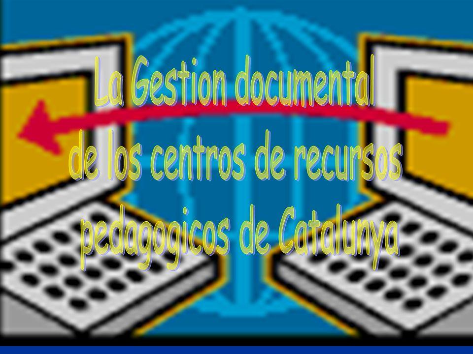 Resumen El Departament d Ensenyament de la Generalitat de Catalunya, comunidad autónoma de España de aproximadamente 7 millones de habitantes, inició el curso 1991-92 un plan de gestión documental de los materiales -recursos educativos- existentes en los Centros de Recursos Pedagógicos (CRP) de Cataluña.