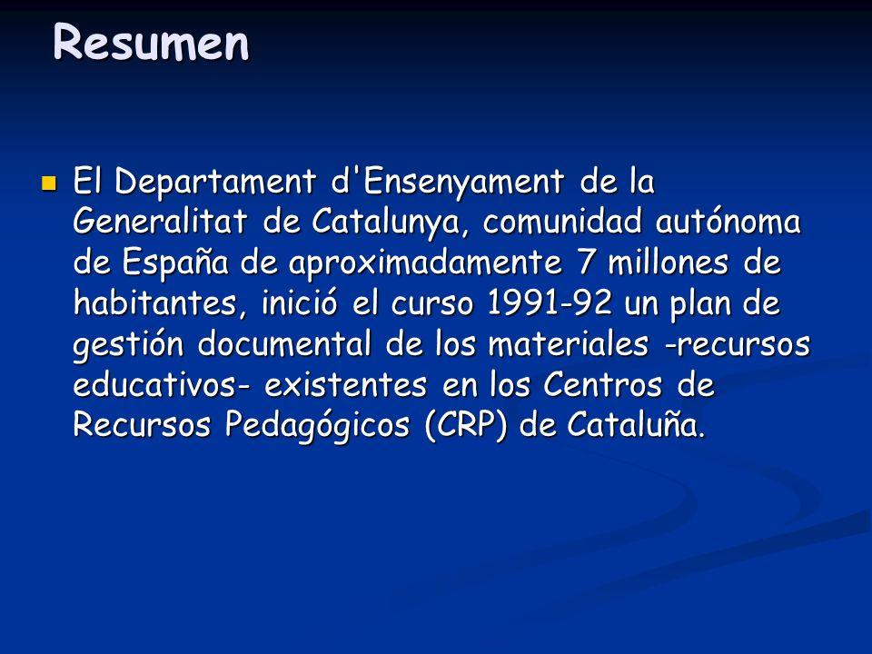 Resumen El Departament d'Ensenyament de la Generalitat de Catalunya, comunidad autónoma de España de aproximadamente 7 millones de habitantes, inició