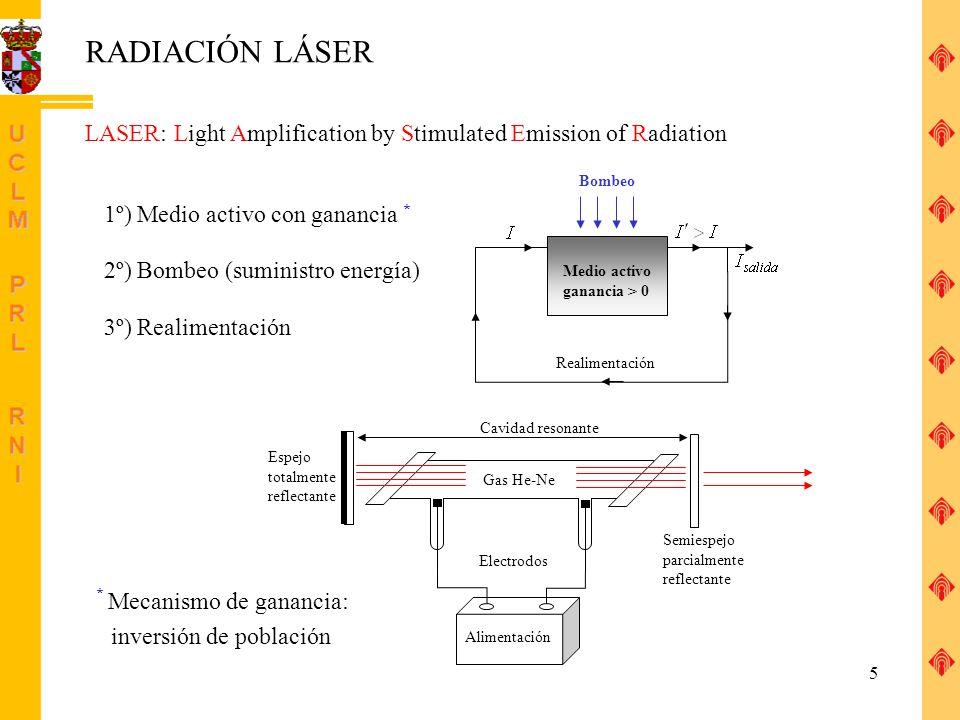26 MEDIDAS DE SEGURIDAD (II) Cuando sea imposible encerrar láseres de clases 3 y 4 deberá establecerse una zona de entrada controlada, y dentro de la zona de riesgo de irradiación se establecerá la obligatoriedad de usar protectores oculares.