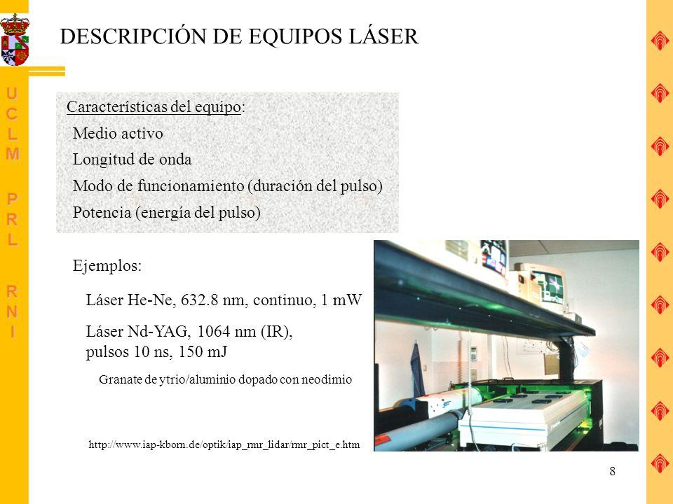19 CLASIFICACIÓN DE LOS LÁSERES (II) Láseres intrínsecamente seguros (nunca se sobrepasa el nivel de EMP), o los que son seguros debido a su diseño.