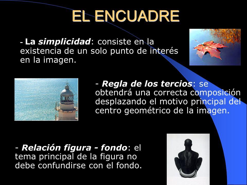 EL ENCUADRE - El plano: se utiliza como recurso que aporta significado por sí mismo. Por ejemplo:Un primer plano transmite sentimientos. Un plano de c