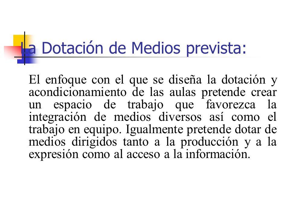 DOTACIÓN INICIAL 1.Aula de Medios de Información y comunicación.
