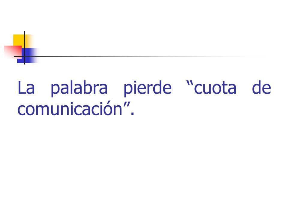 La palabra pierde cuota de comunicación.