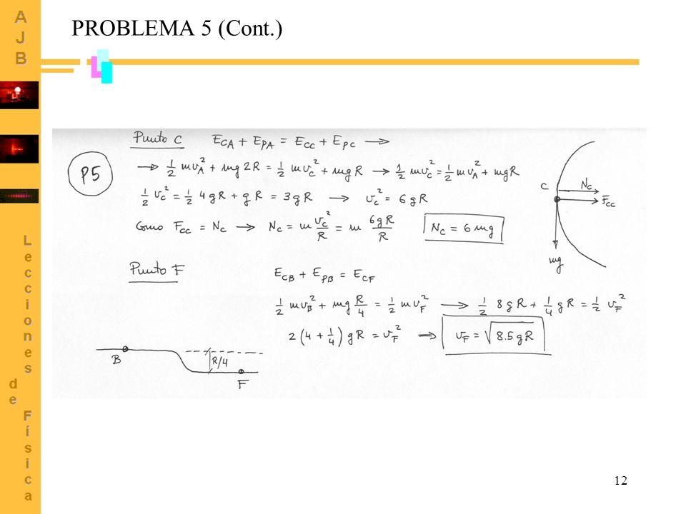 12 PROBLEMA 5 (Cont.)