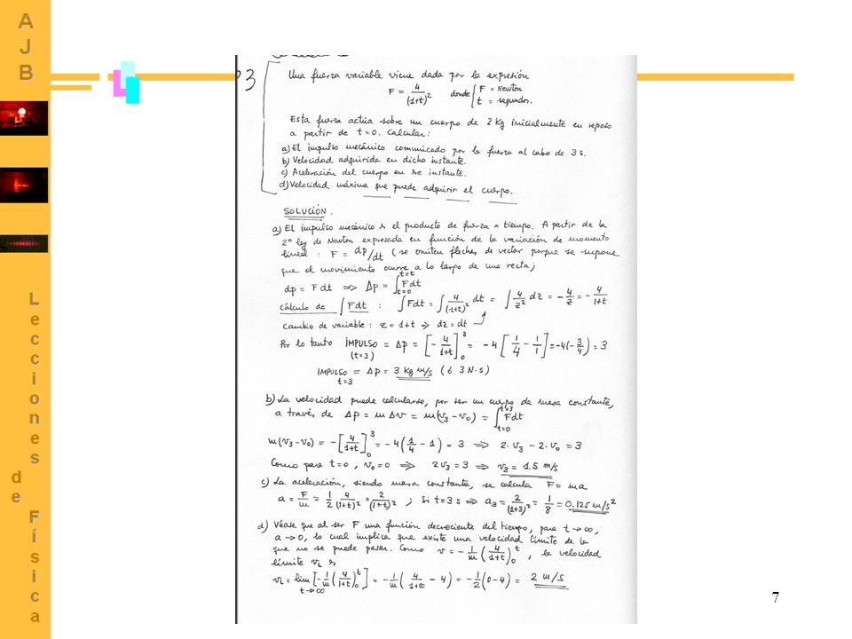 8 Demostrar que cuando un cuerpo atado a una cuerda se mueve en una órbita circular situada en un plano vertical, la diferencia entre las tensiones de la cuerda en las posiciones extremas inferior y superior es igual a seis veces el peso del cuerpo.