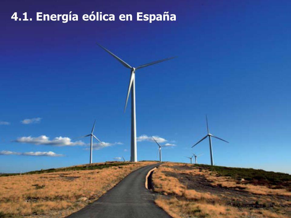 4.1. Energía eólica en España