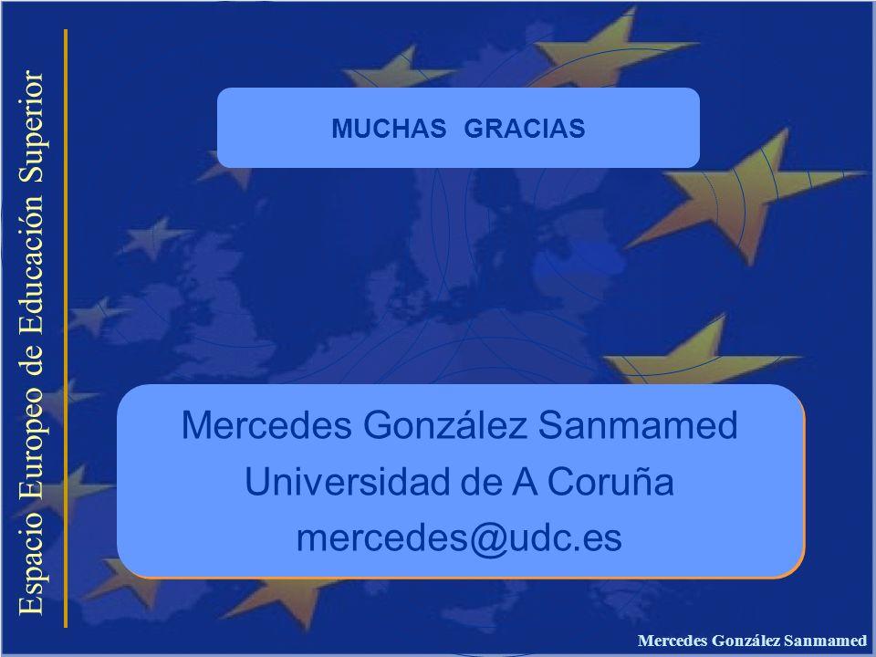 Espacio Europeo de Educación Superior Mercedes González Sanmamed Universidad de A Coruña mercedes@udc.es Mercedes González Sanmamed Universidad de A C