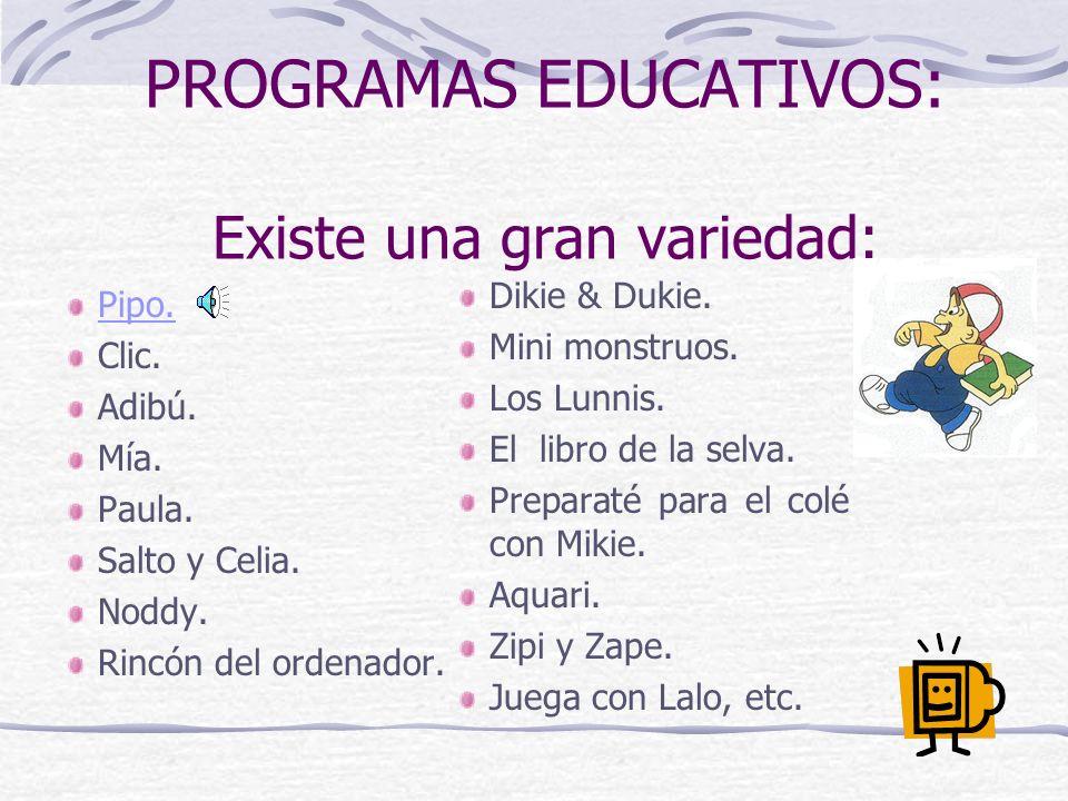 ANÁLISIS DE PROGRAMAS EDUCATIVOS: Se han desarrollado muchas listas de criterios para la valoración de programas educativos.