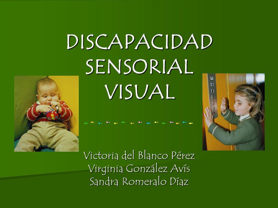 DISCAPACIDAD SENSORIAL VISUAL Victoria del Blanco Pérez Virginia González Avís Sandra Romeralo Díaz