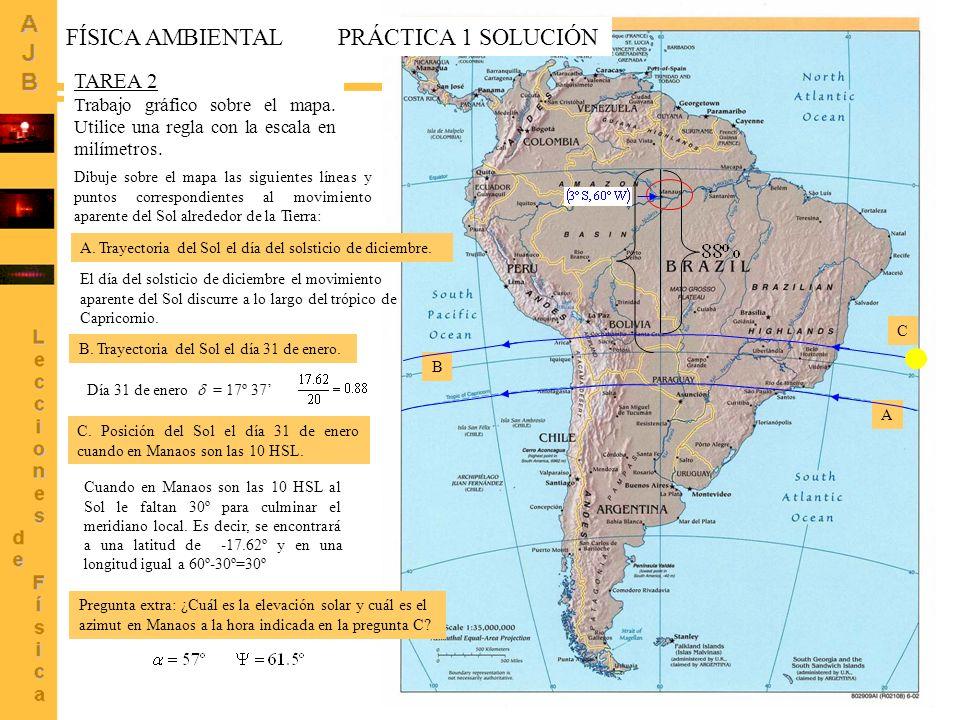 4 TAREA 2 Trabajo gráfico sobre el mapa. Utilice una regla con la escala en milímetros. Dibuje sobre el mapa las siguientes líneas y puntos correspond