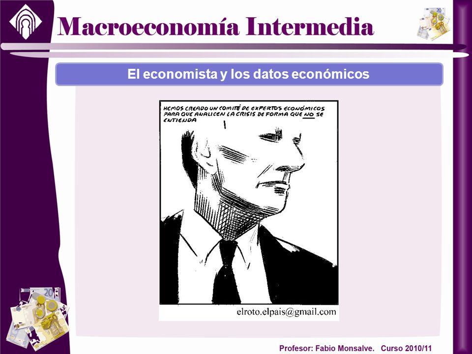 El economista y los datos económicos