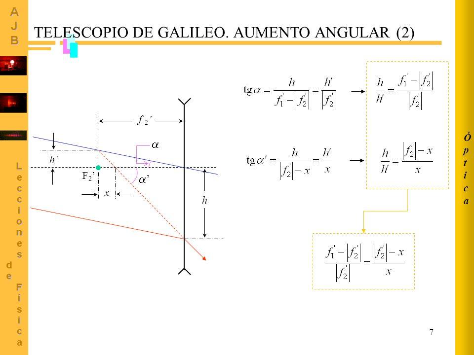 18 O F PLANO FOCAL DEL ESPEJO 20 cm 10 mm O E FORMACIÓN DE IMAGEN EN ESPEJOS ESFÉRICOS (IV) Ejemplo 2.