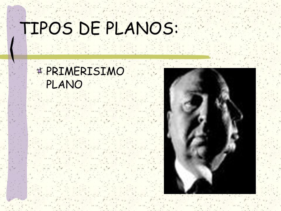 TIPOS DE PLANOS: PRIMERISIMO PLANO