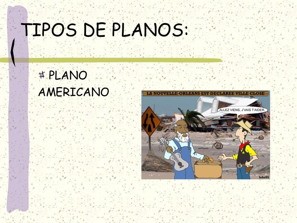 TIPOS DE PLANOS: PLANO AMERICANO