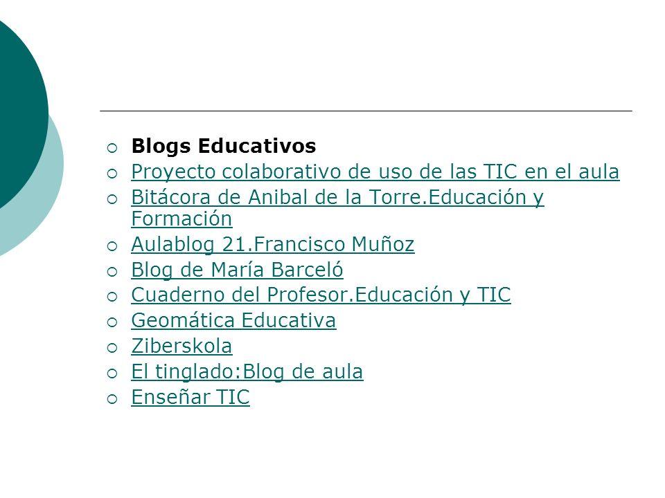 Blogs Educativos Proyecto colaborativo de uso de las TIC en el aula Bitácora de Anibal de la Torre.Educación y Formación Bitácora de Anibal de la Torr