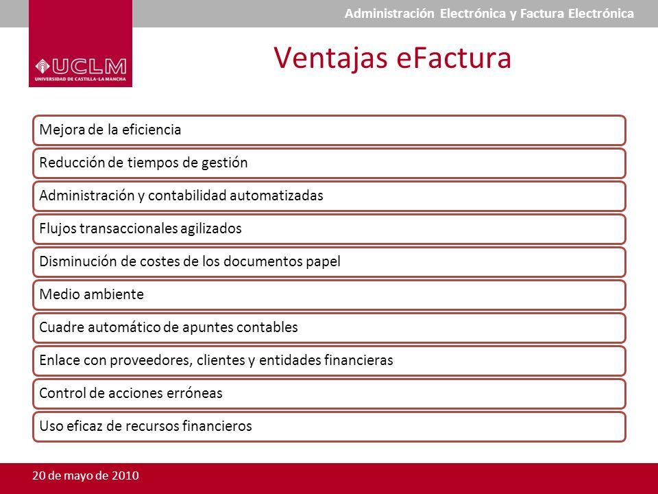 Ventajas eFactura Mejora de la eficienciaReducción de tiempos de gestiónAdministración y contabilidad automatizadasFlujos transaccionales agilizadosDi