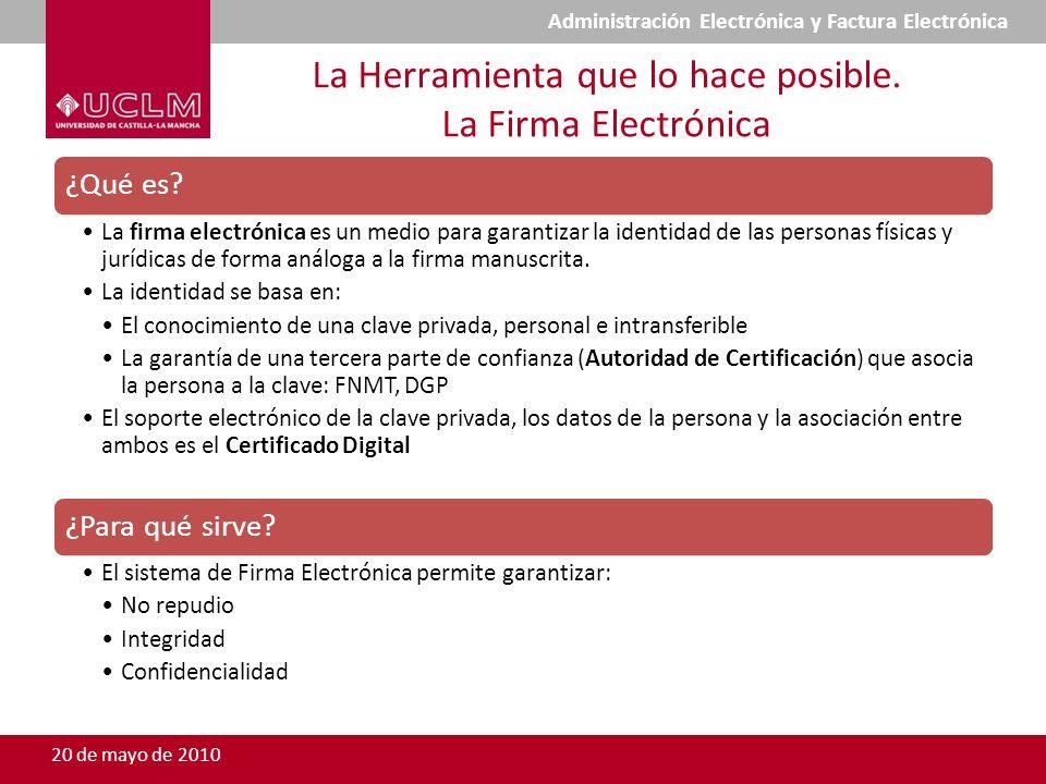 La Herramienta que lo hace posible. La Firma Electrónica ¿Qué es? La firma electrónica es un medio para garantizar la identidad de las personas física