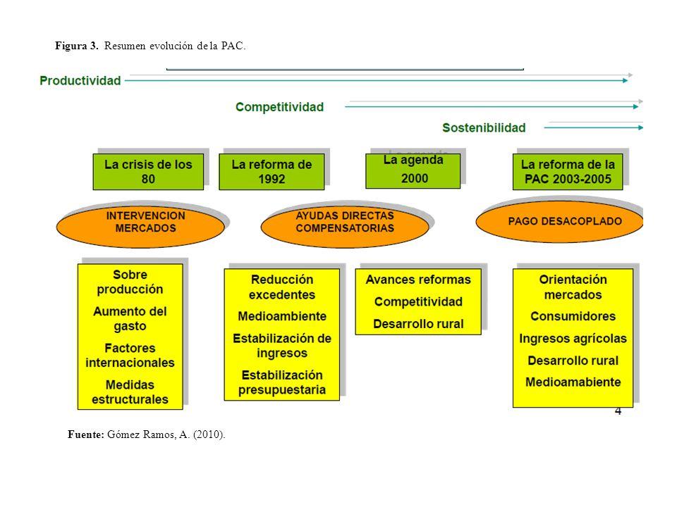 Fuente: Gómez Ramos, A. (2010). Figura 3. Resumen evolución de la PAC.