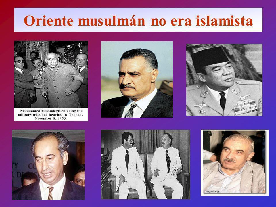 Oriente musulmán no era islamista