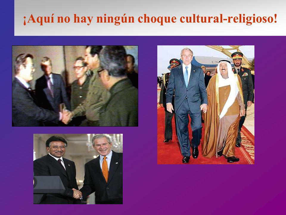 ¡Aquí no hay ningún choque cultural-religioso!