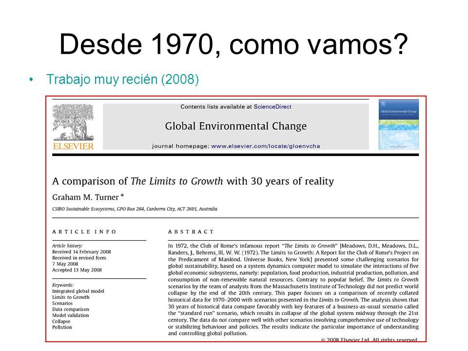 Desde 1970, como vamos? Trabajo muy recién (2008)