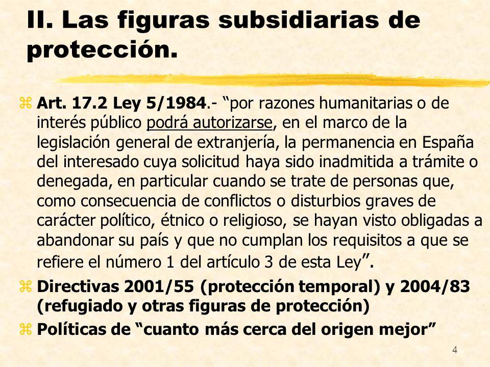 5 III.Diferencias básicas entre estatuto de refugiado y otras figuras.