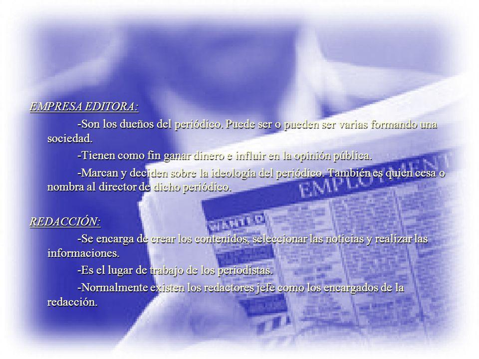DEPARTAMENTO DE PUBLICIDAD: -Tiene como misión encontrar anunciantes para las páginas del periódico.