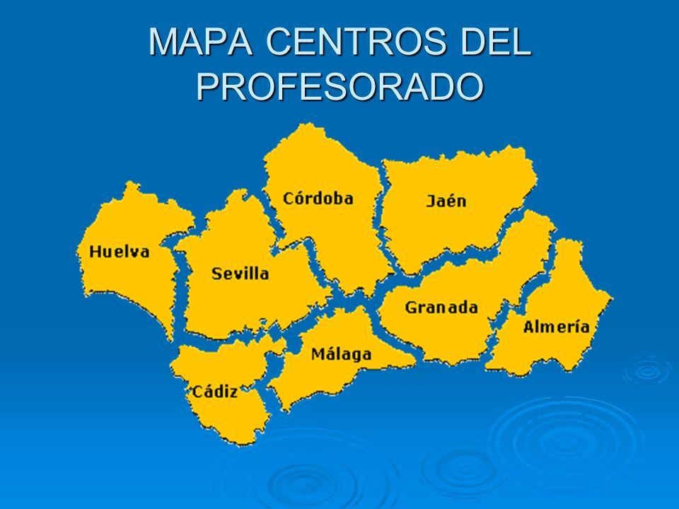 MAPA CENTROS DEL PROFESORADO
