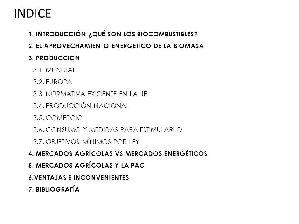 BIOCOMBUSTIBLES 4.MERCADOS AGRÍCOLAS VS.