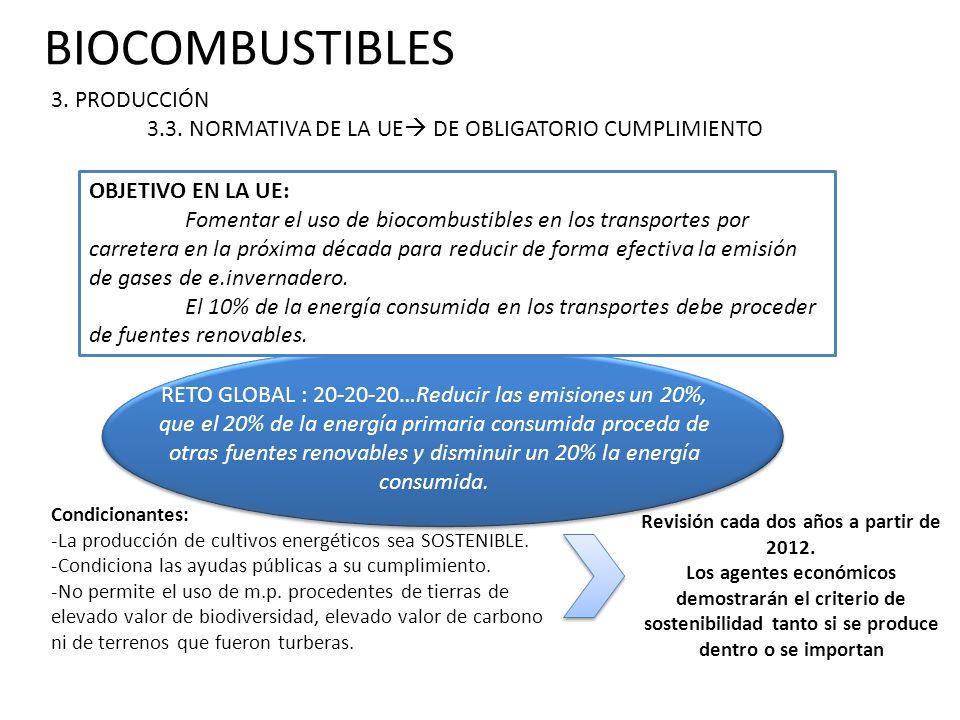 BIOCOMBUSTIBLES 3.PRODUCCIÓN 3.4. PRODUCCIÓN NACIONAL.