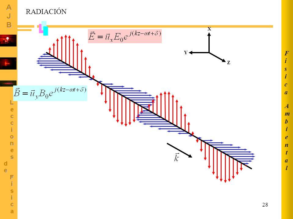 28 Z X Y RADIACIÓN AmbientalAmbiental FísicaFísica