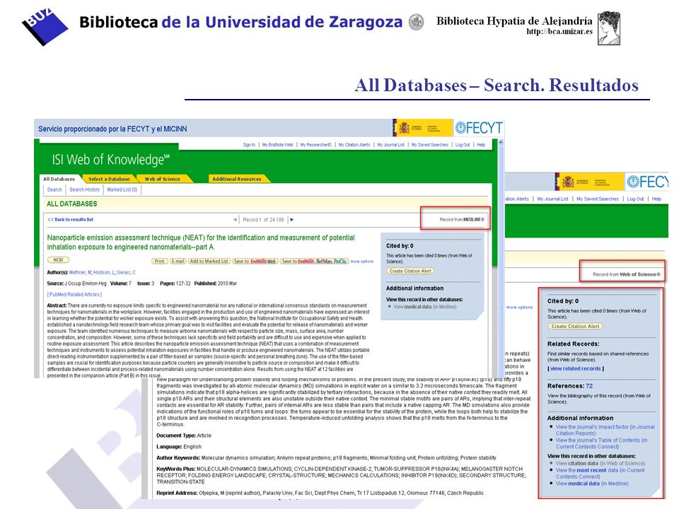 All Databases – Search. Resultados
