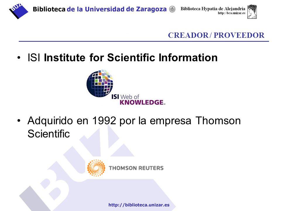 Web of Science – búsqueda