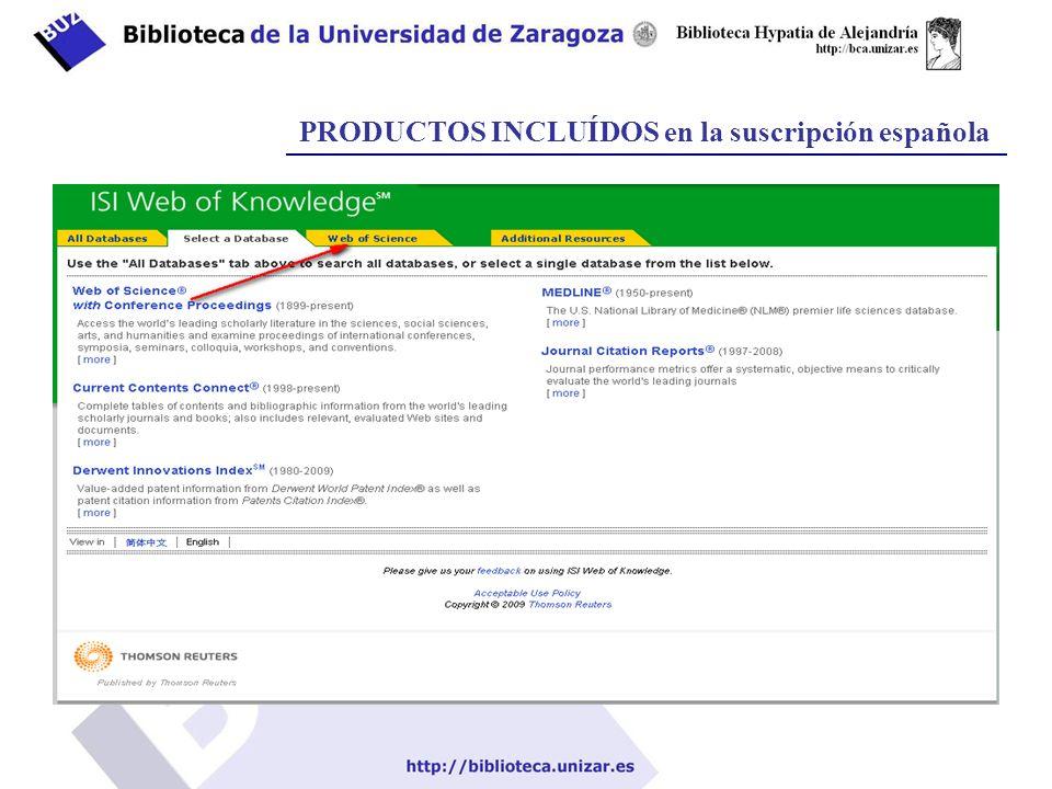 PRODUCTOS INCLUÍDOS en la suscripción española