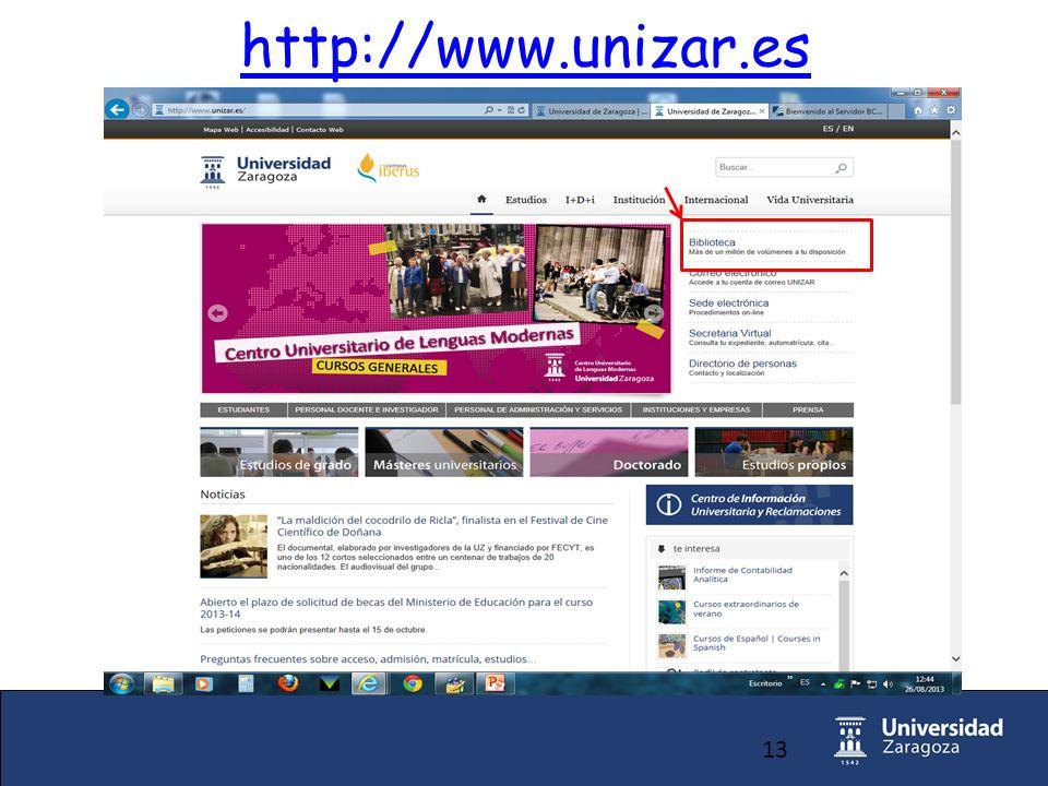 13 http://www.unizar.es