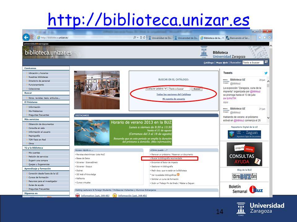 14 http://biblioteca.unizar.es