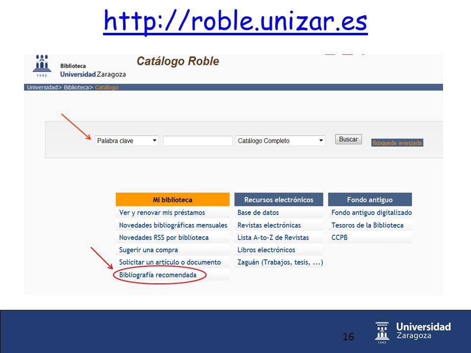 16 http://roble.unizar.es